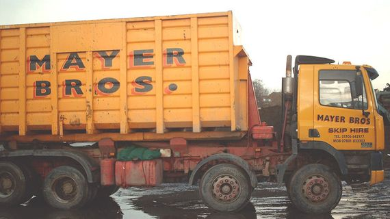 Large Roll on Roll off Skip