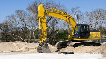 large Yellow Excavator available in Lancashire